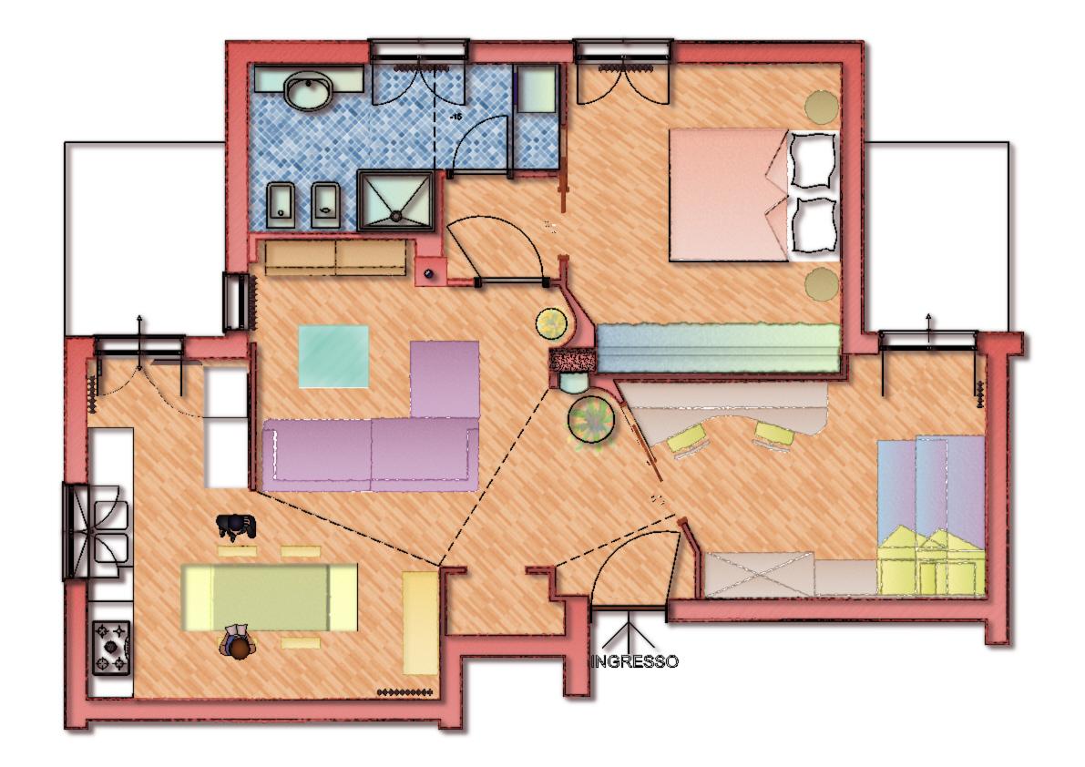 Progetto 70 mq villa in vendita gambassi terme fi with for Arredare appartamento 100 mq
